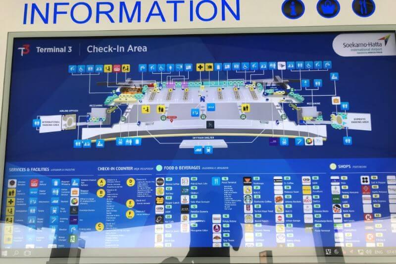 ジャカルタスカルノハッタ空港第3ターミナルの地図